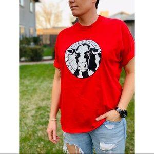 Vintage 1987 Deadstock California Milk Cow Shirt